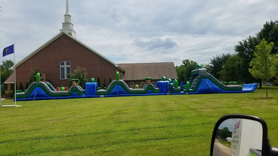 Blue Crush 120 Ft Obstacle Rental Bloomfield Church Event