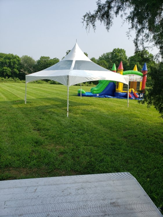 20'x20' Frame Tent w/ Clear Top