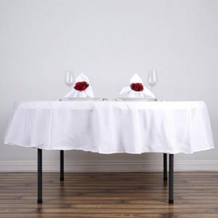 5' Round Tablecloth Lap Length