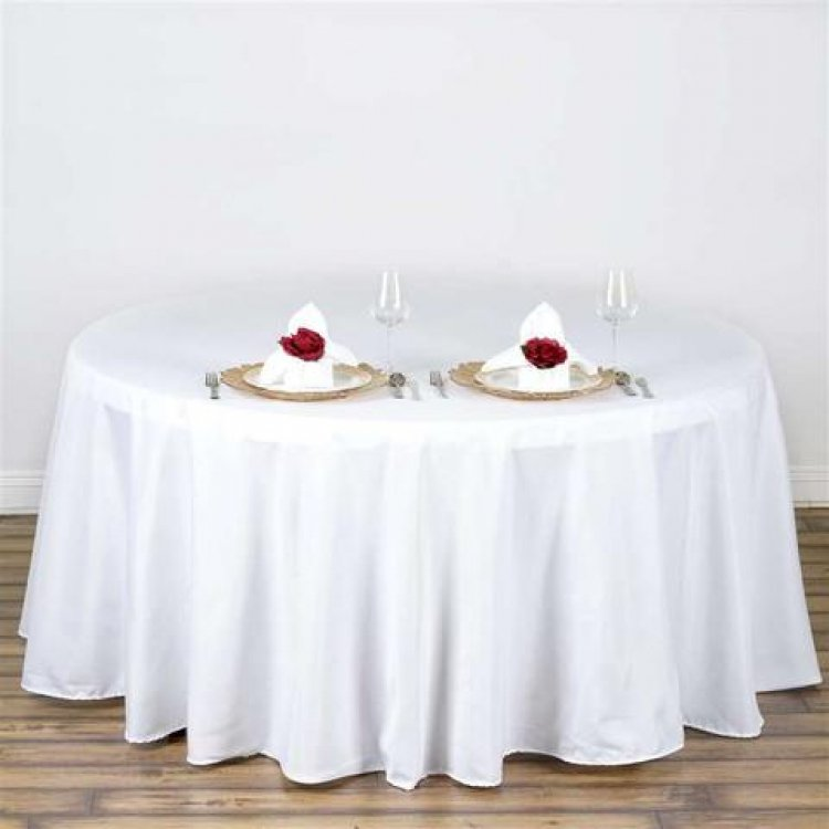 5' Round Tablecloth Floor Length