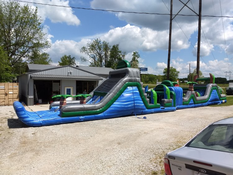 Blue Crush 85' Obstacle With Slide