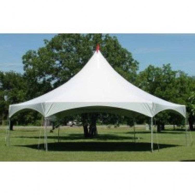40' Hexagon High Peak Frame Tent