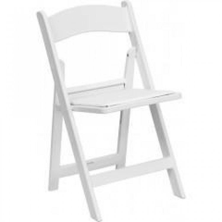 Elegant White Folding Chairs