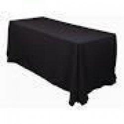 6' Tablecloth Floor Length (Black)