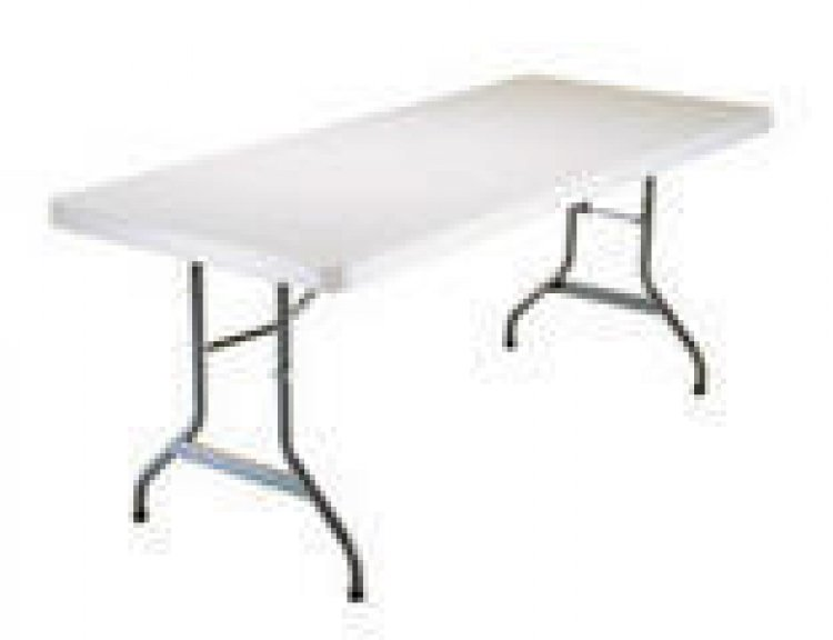 6' White Tables
